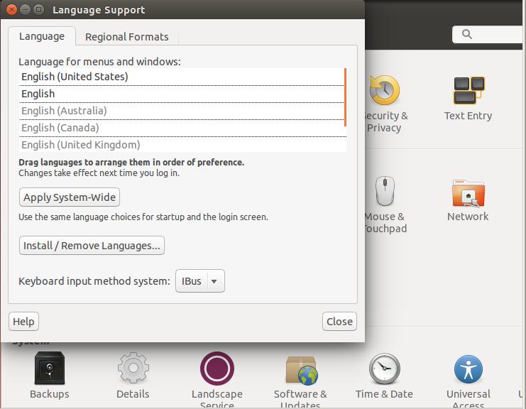 Смена языка системы на русский в Ubuntu 14.04.1