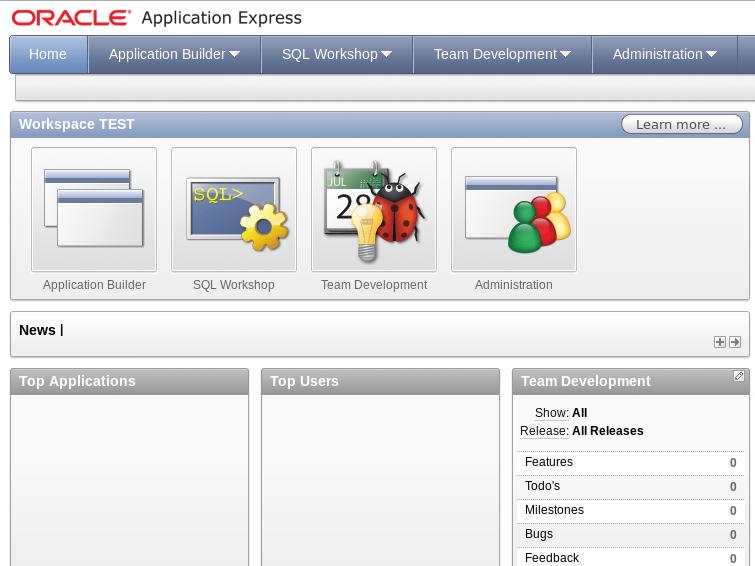 Основное веб-приложение для работы с Oracle XE.
