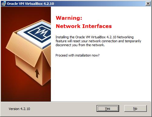 Установка VirtualBox - сетевые драйверы